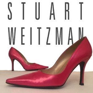 Stuart Weitzman Pink Pointed Toe Pumps Heels